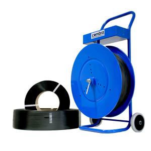 Combra Abrollwagen bzw. Gestell für das bequeme Umreifen von Kartons und Paletten.