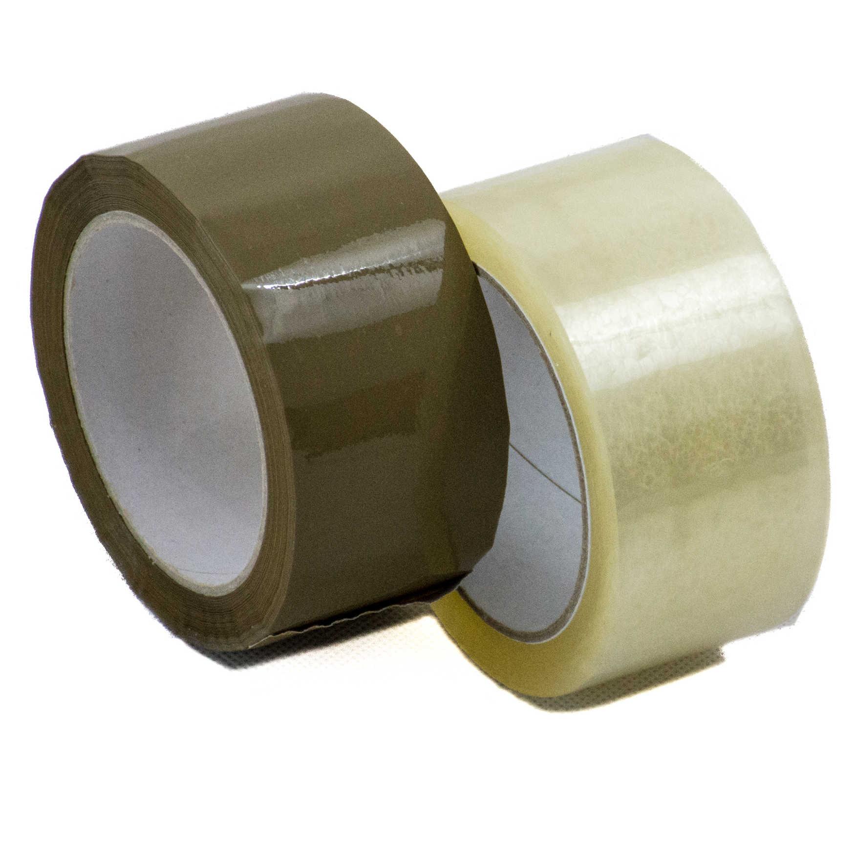 PP Packband mit Acrylatkleber in transparent und braun