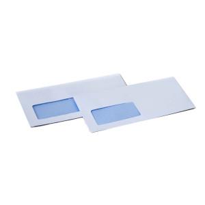 Weiße Briefumschläge mit Sichtfenster