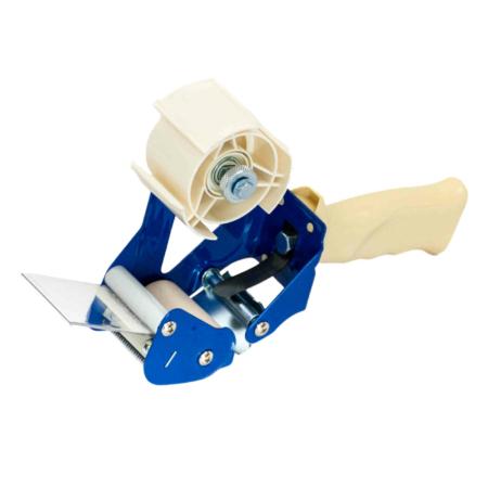 Weiß-blauer Handabroller für Klebebänder