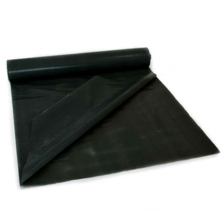 Schwarze, doppellagige Baufolie aus LDPE auf Rolle