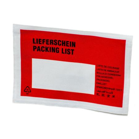 Tasche für Lieferscheine für Pakete