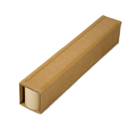 Selbstklebende Palettenkufe aus Wellpappe. Dient als Ersatz für herkömmliche, schwere Holzpaletten.