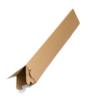 Tripac wird in Form eines Dreckecks aufgestellt. Tripac lässt sich für jegliche länglichen Teilen nutzen, wie zum Beispiel für Poster und Plakate, die nicht geknickt werden dürfen.