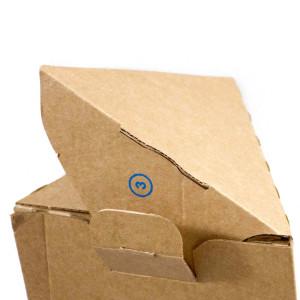 Schließen der Poster-Verpackung
