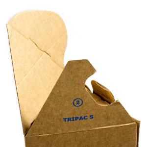 Tripac Poster Verpackungen gezoomt für den leichten Zusammenbau