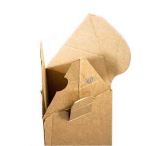 Die Verpackung kann ganz leicht mit einem integrierten Klebestreifen geschlossen werden