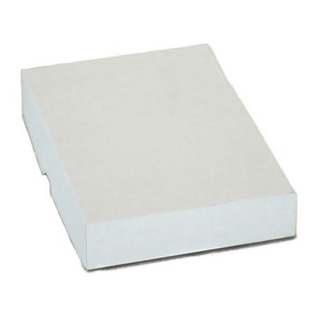 Zweiteilige Stülpdeckelschachtel aus Wellpappe für A4 Papier in weiß