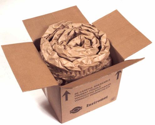 PadPak Senior Papier verarbeitet zu einer Schneckenverpackung