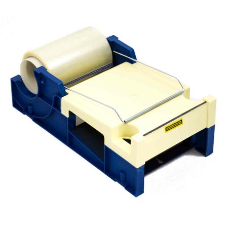 Tischabroller für Adress-Schutzfolie in blau