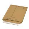 Versandtasche aus Wellappe von hinten. Mit Klebestreifen für Warensendungen geeignet.