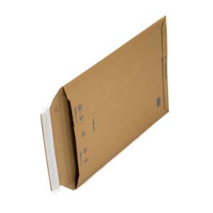 Versandtasche aus Wellpappe für Warensendungen mit Klebestreifen für einfaches verschließen