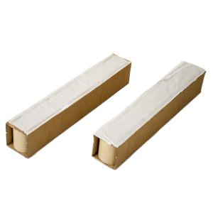 Zwei Palettenkufe Stränge mit Klebestreifen