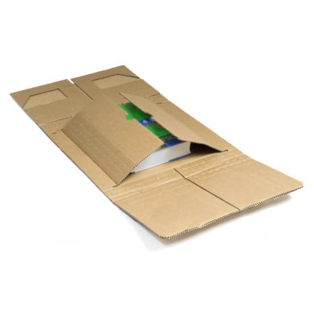 Buchverpackung mit Einsatz und Schnellklebeverschluss