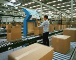FillPak Pro integriert in eine Packstraße bzw. in eine neue Verpackungsumgebung.