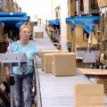 FillPak TT System integriert in eine bestehende Packstraße bzw. Verpackungsumgebung.
