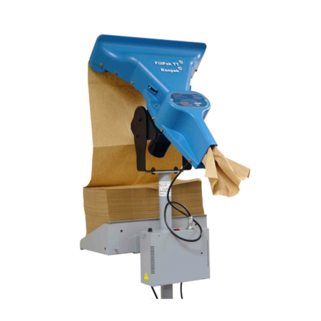 FillPak TT Kopf der Maschine mit eingelegtem Papier.