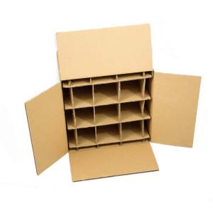 Karton mit einem Gefache. Kann genutzt werden für Flaschen oder Vasen