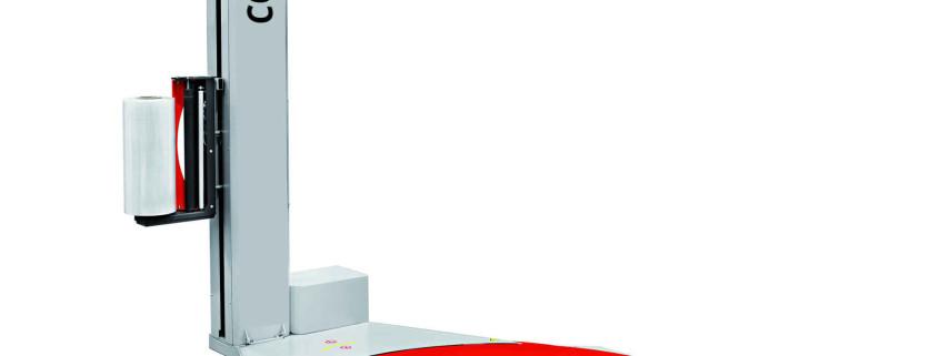 Halbautomatischer Stretchwickler mit mechanischer Bremse