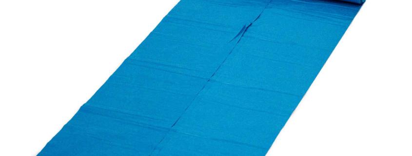 Müllbeutel blau auf einer Rolle