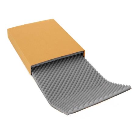Noppenschaumverpackung mit Einlage grau