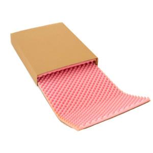Antistatische Noppenschaumverpackung (rosa Schaumstoff) und Umkarton