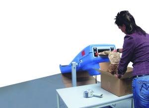 PadPak LC integriert in eine Verpackungsumgebung.
