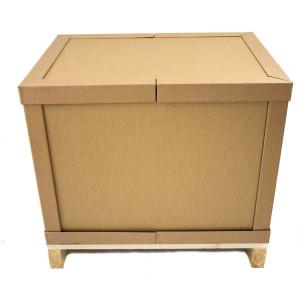 Combrabox bzw. Palettenbox aufgestellt, verschlossen