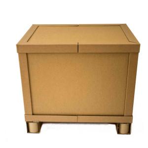 Palettenbox mit Palettenkufen statt Holz-Palette