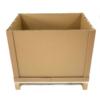 Palettenbox aus Pappe aufgestellt ohne Deckel