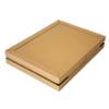 Angeliefert wird die Box aus Pappe flach und spart dadurch sehr viel Platz im Lager