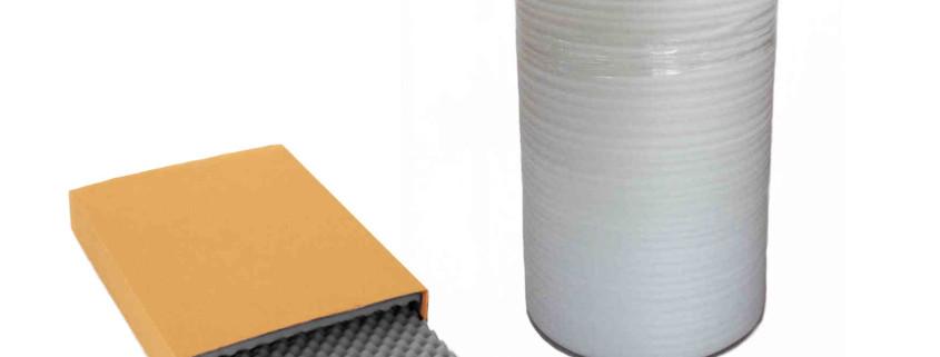 Schaumfolie und Schaumstoffpolster zum ausfüllen von Kartons
