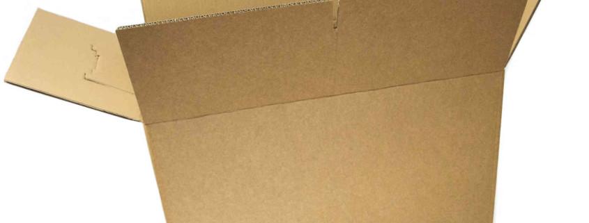 Stabiler Umzugkarton mit gestanzten Griffen und verstärkten Wänden
