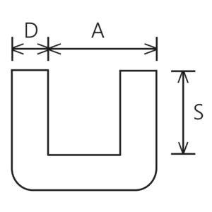 Mehrere Lagen Wellpappe als U-Profil