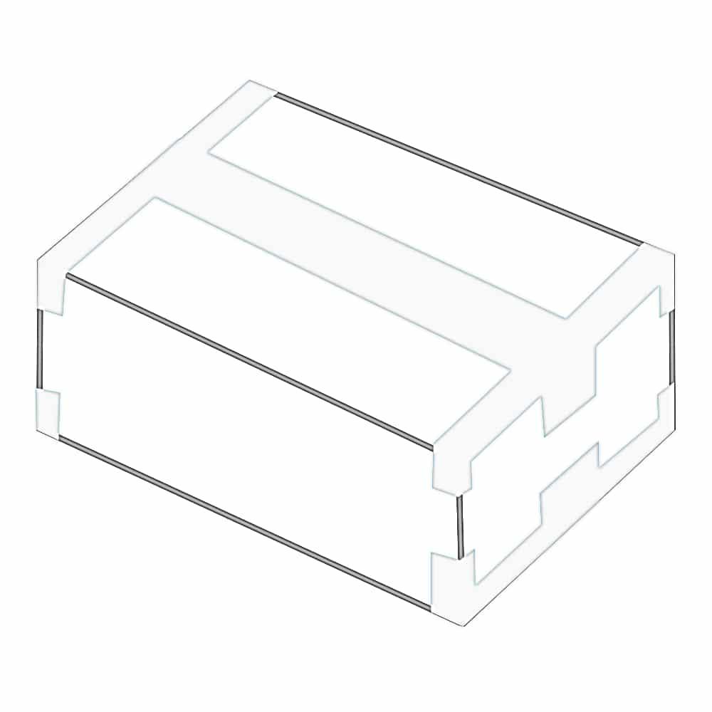 Sicherer Kartonverschluss mit Packband. Das Packband wird dabei über die Boden- und Deckelklappen geklebt sowie über die Kanten und Ecken des Kartons.