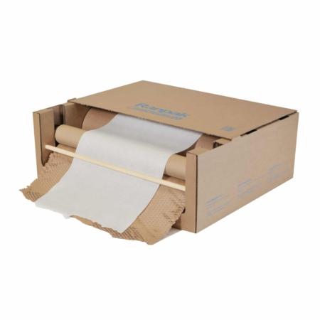 Die GeamiBox WrapPak EX in der praktischen Box zur einfachen Entnahme des Polsterpapiers