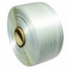 Ansicht auf eine komplette Rolle weißes Textil Umreifungsbandes