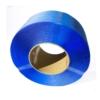 Frontal Ansicht auf ein blaues Umreifungsband auf Rolle