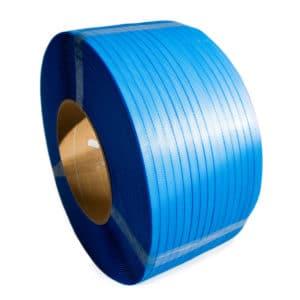 Bild zeigt ein blaues, breites Umreifungsband