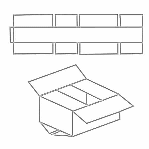 FEFCO 0201 Karton Zeichnung