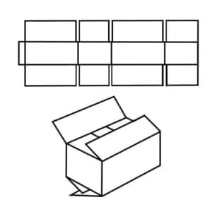 FEFCO 0202 Faltkiste Zeichnung