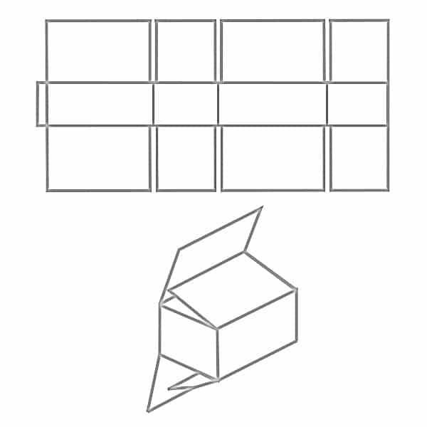 FEFCO 0203 Faltkarton Zeichnung
