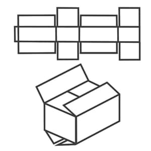 FEFCO 0204 Faltkarton mit aneinanderstoßenden Innen- und AUßenklappen
