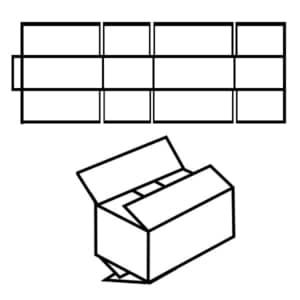 Zeichnung vom FEFCO 0205 Faltkarton