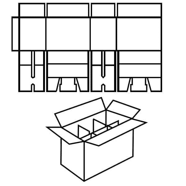 fefco 0207 karton, Zeichnung