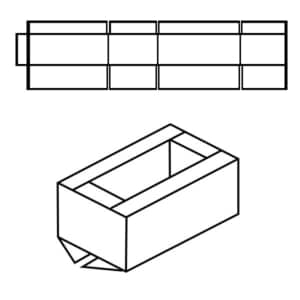 Zeichnung vom FEFCO 0209 Typ