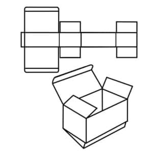 Zeichnung vom Standarf FEFCO 0210