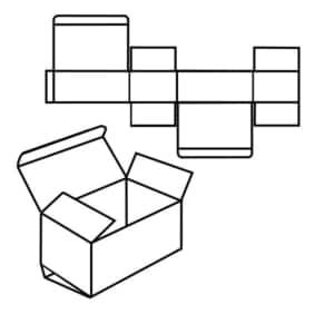 Zeichnung vom FEFCO 0211 Standard.