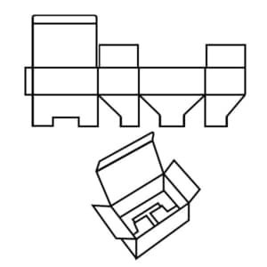 FEFCO 0215 Faltkarton Zeichnung